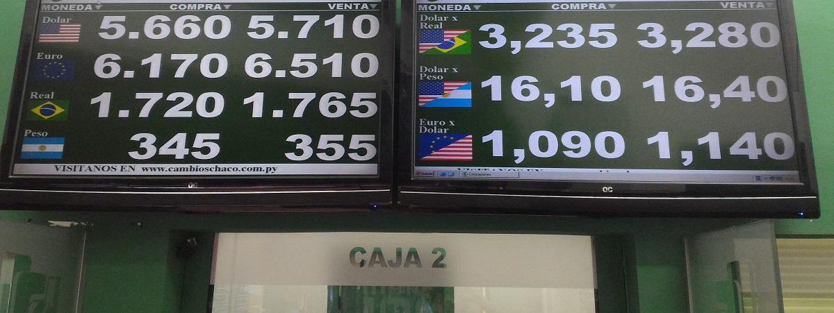 Cotação das moedas em Ciudad del Este